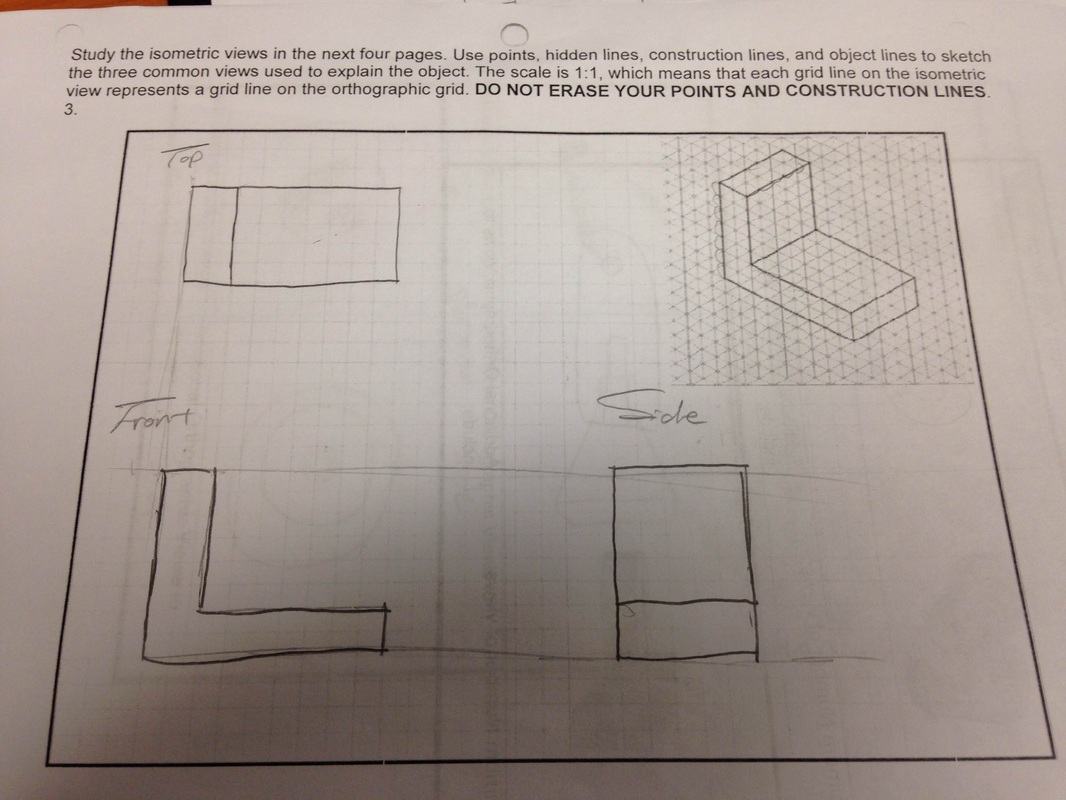 how to draw an isometric from a multiview
